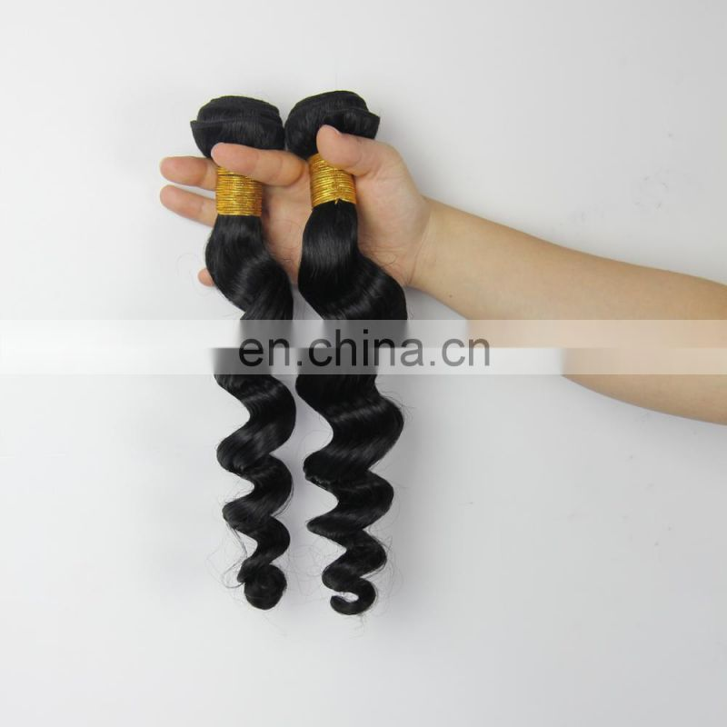 Youth Beauty Hair Best saling 2017 9A Indian human virgin hair weaving in loose wave raw unprocessed hair