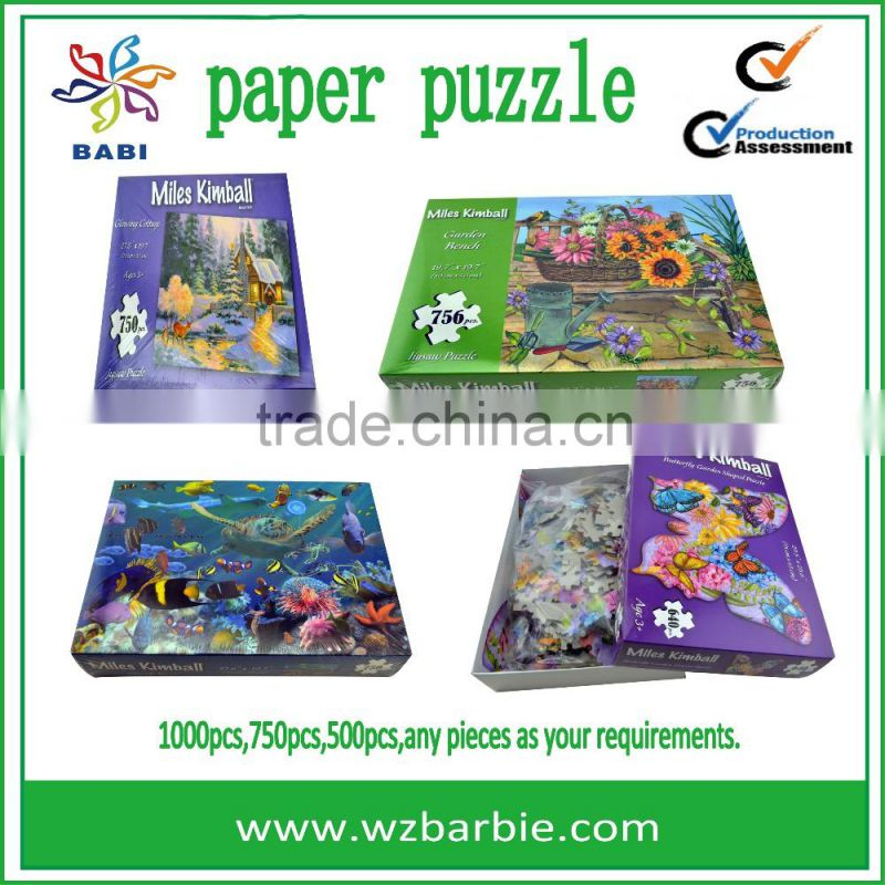 wholesale custom adults games jigsaw puzzle