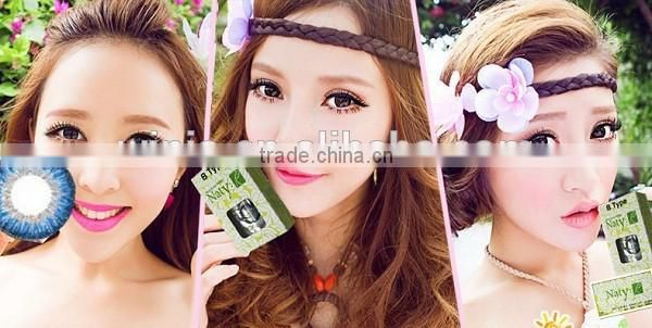 3a696e1a124 ... Wholesale popular Naty B type blue Korea color contact lens yearly  cosmetic lenses wholesale colored contacts ...