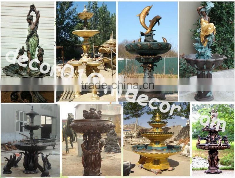 Large Italian bronze garden mermaid water fountain NTBF-L366S