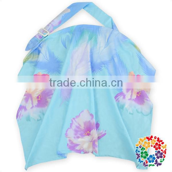 wholesale cotton blue flower mom adjustbable brestfeeding cover