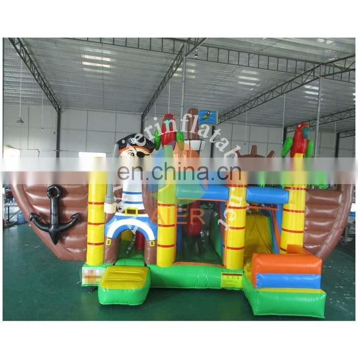 2017 Aier pirate ship inflatable bouncer combo/ inflatable castle combo