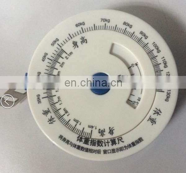 Top quality bmi mini retractable plastic tape measure