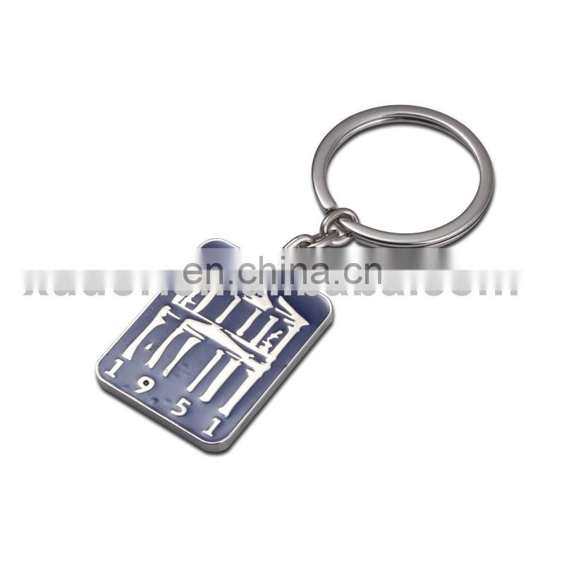 retangle shaped zinc alloy tourist souvenir metal keychains,oil-filled customized keychain,metal logo