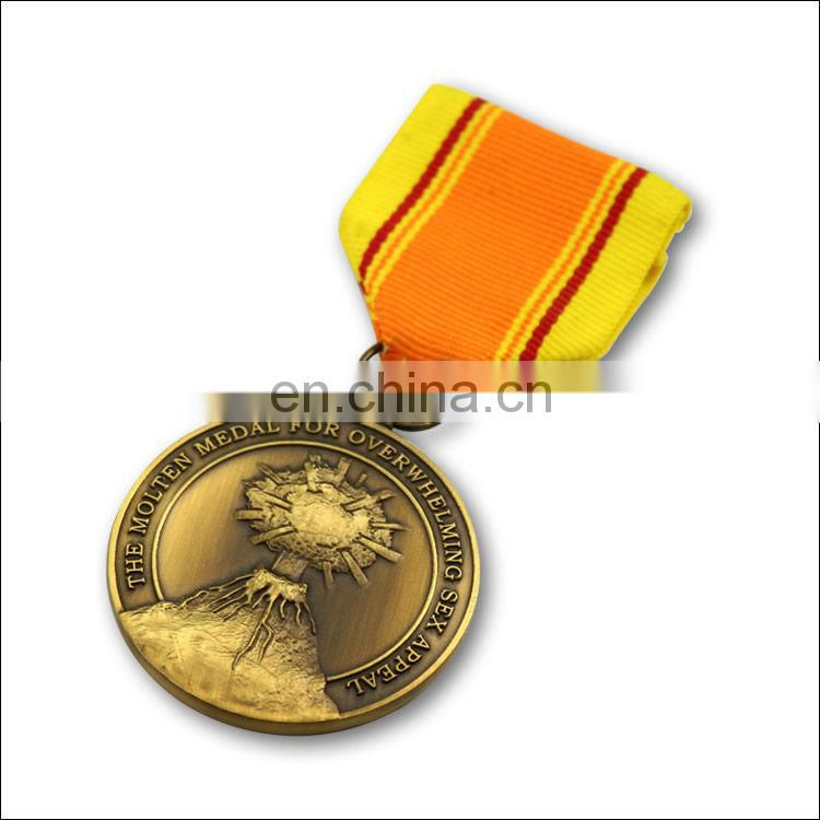 gold / slver / bronze custom sport award metal medal