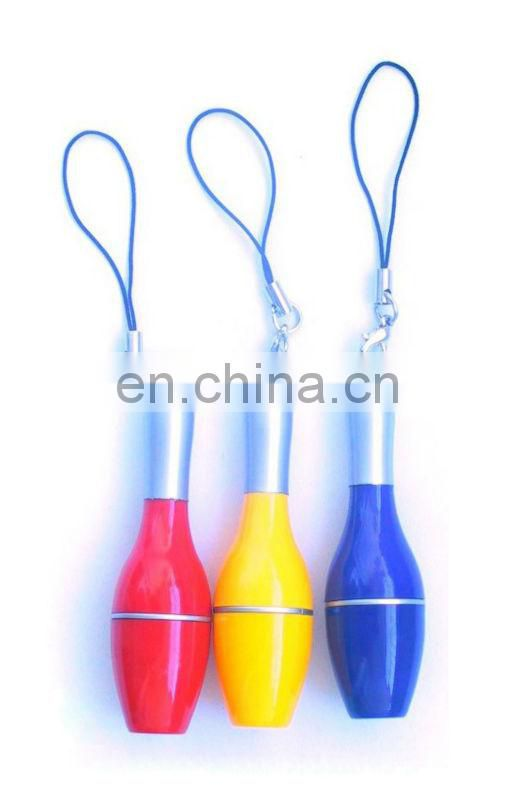Mini Bowling Shaped Plastic Pens with Lanyard
