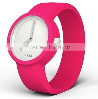 Cheap durable girls waterproof odorless silicone watch