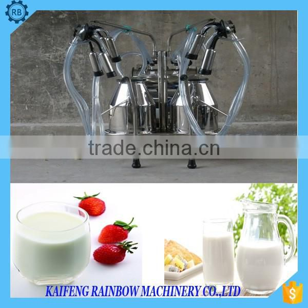 New Designed High Efficiency Mobile Dairy Cattle Milking Machine