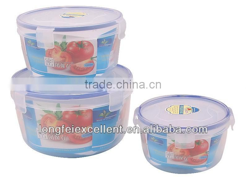 Food grade plastic container with divider