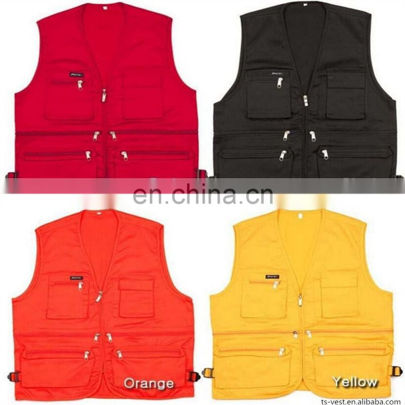 Colorful china high quality working wear fishing vest