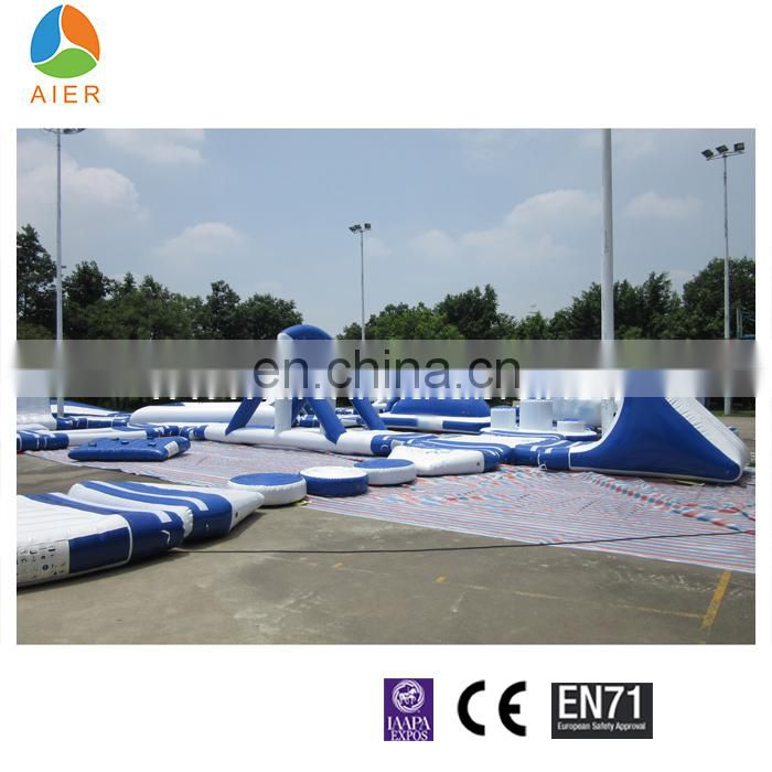 Used Water Park Equipment , Inflatable Water park for sale , Floating Inflatable Water park Games