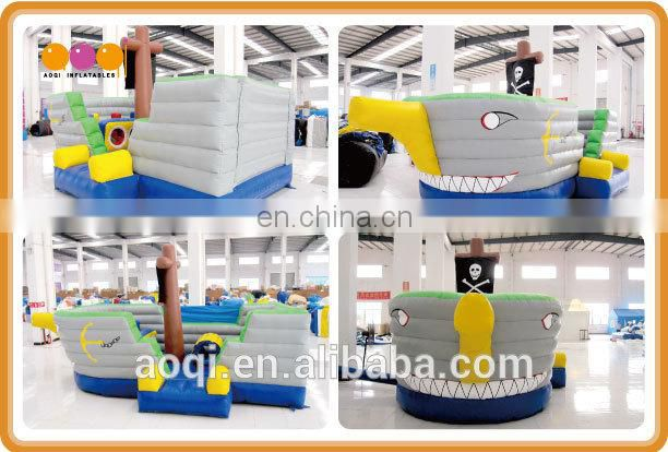 AOQI with free EN14960 certificate small inflatable pirate bouncy