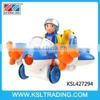 Plastic cartoon 2 channel rc truck with music and light