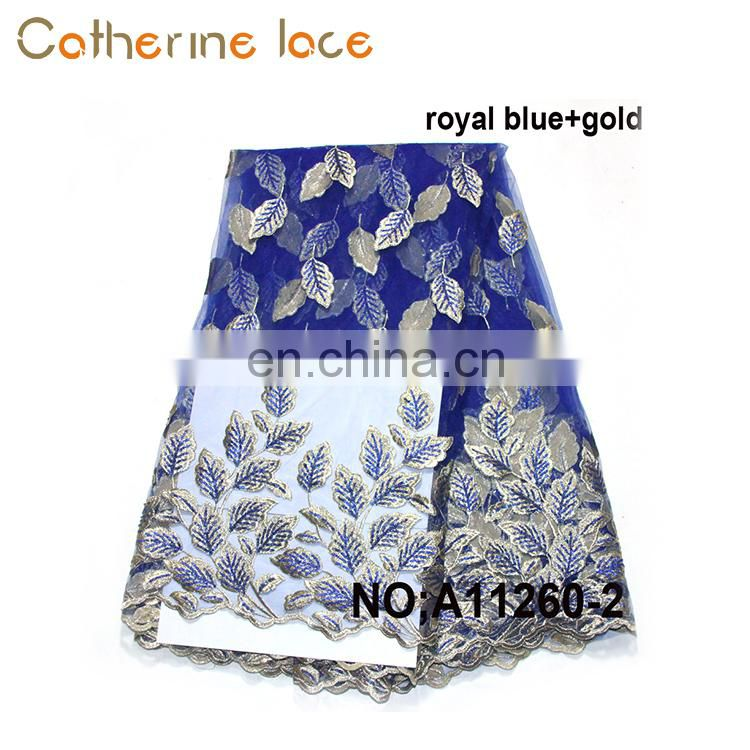 Catherine High Quality Polyester Black Color Fabric French Lace African