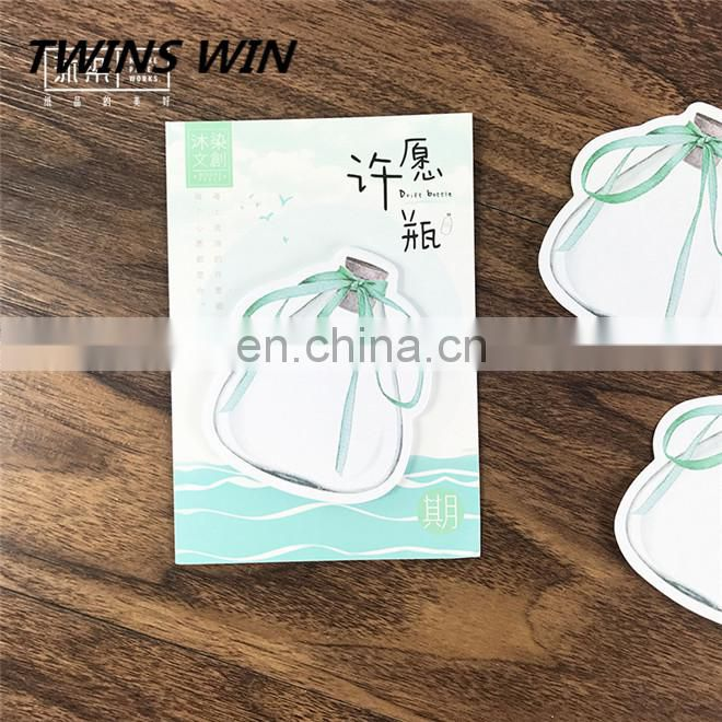 guangzhou new arrivals office supplies and stationery promotion factory price cute shapes paper sticky notes memo pad