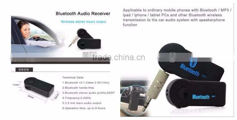 Bluetooth Transmitter and Receiver Adapter Stream Audio with a Simple 3.5 mm Stereo Connection, for car TV PC MP3 Tablets