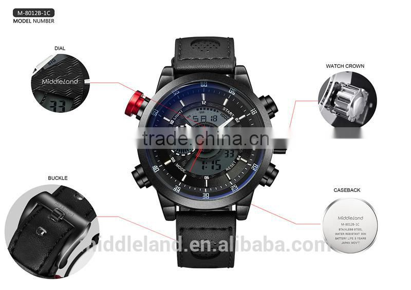 2015 MIDDLELAND TOP quality Customized Logo Japan Movement STAINLESS STEELpromotional watch ,thin rubber sports watch