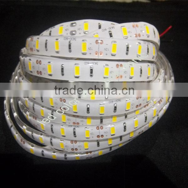 3528 1m 60 led strip lamp white 5500k led flexible strip light 3528