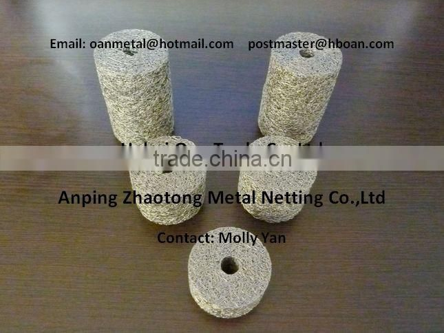 China Alibaba Sintered metal filter 316L /Knitted wire mesh gaskets/ Metal knit gasket for filter