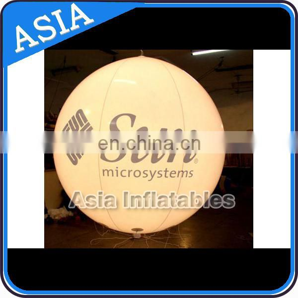 Durable and cheap giant inflatable advertising mirror balloon/ silk silver balloon