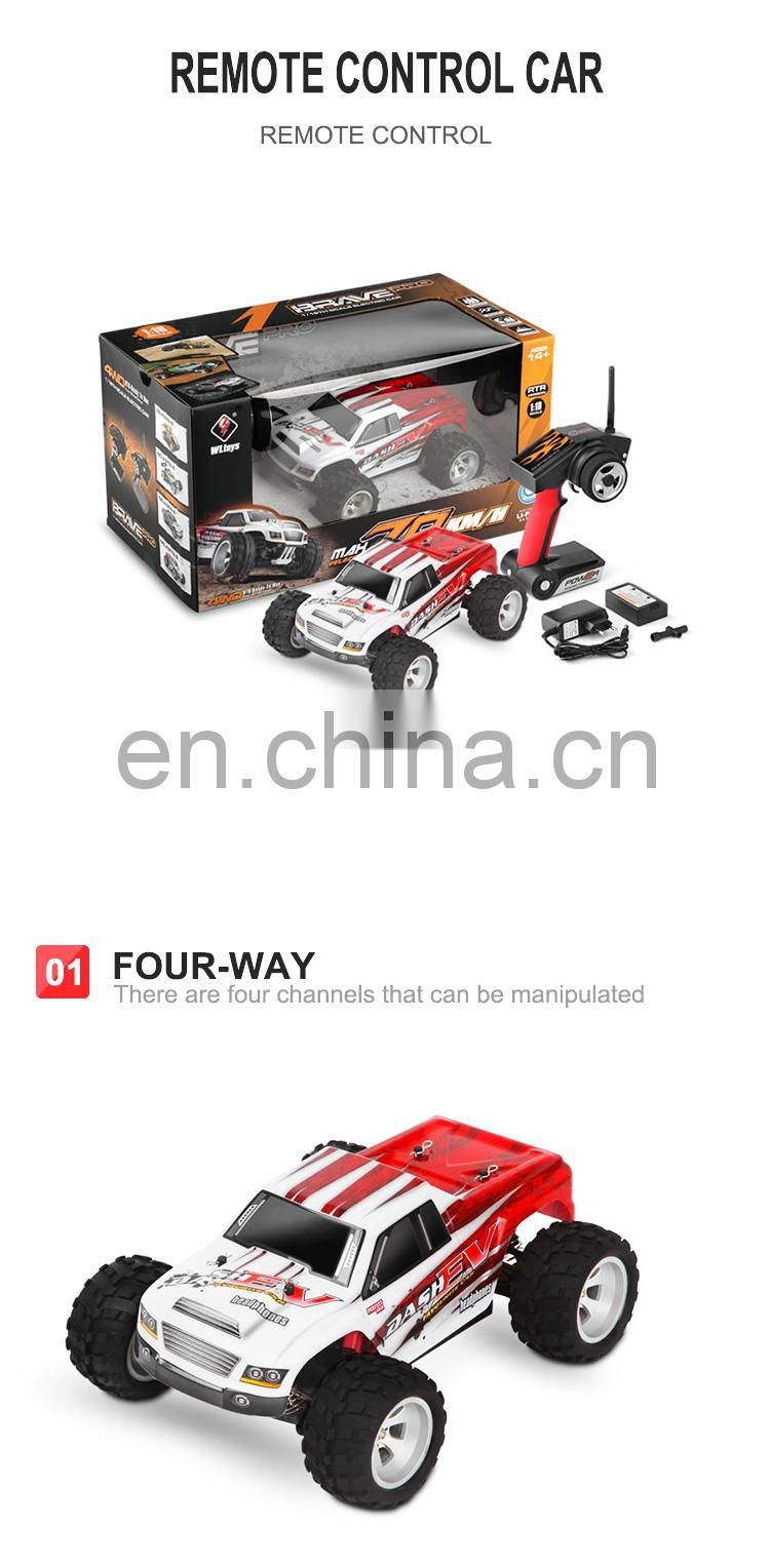 2.4g 1:18 4 channel big wheels rc car to kids