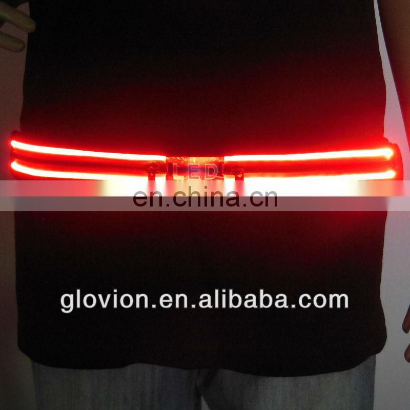 2014 NEWEST LED phone case waist belt waist money belt bag sports led belt