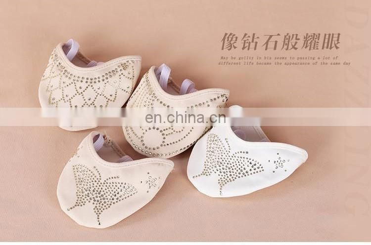 X-8058 Hot drill rhinestone half sole ballet dance shoes