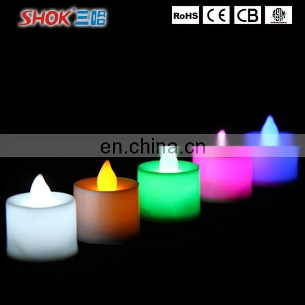 Manufacture Factory Price flameless moving wick led candle for promotion