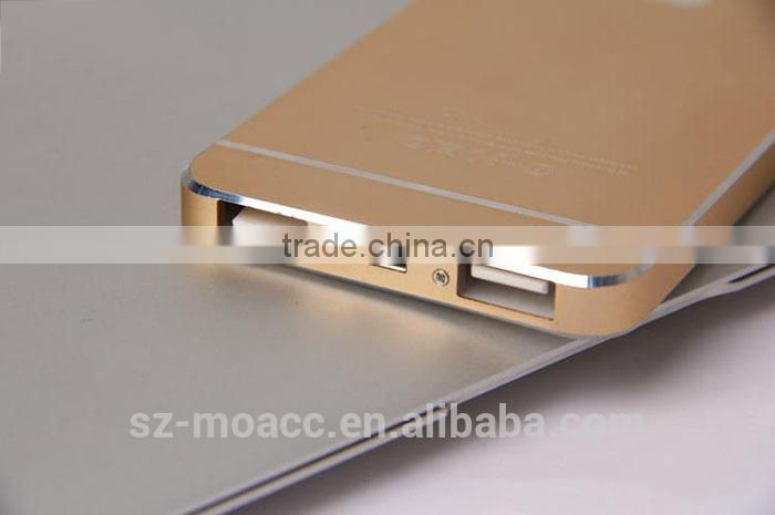 for iPhone 6 design external portable Mobile usb Power Bank 12000mAh from SZ-Moacc