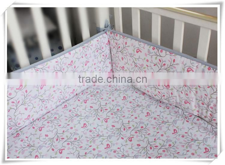 applique emboidery happy birdie baby girls crib bedding set duvet cover sets from professional manufacturer