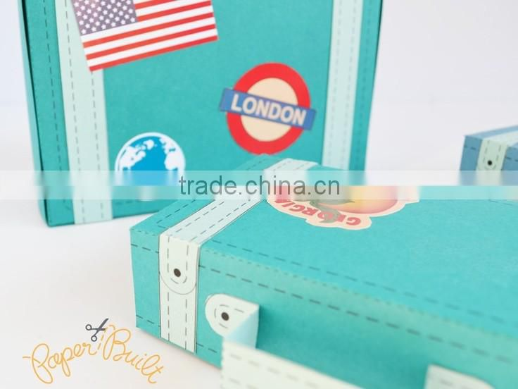 Wholesale Paper Suitcase Gift Box With Handle
