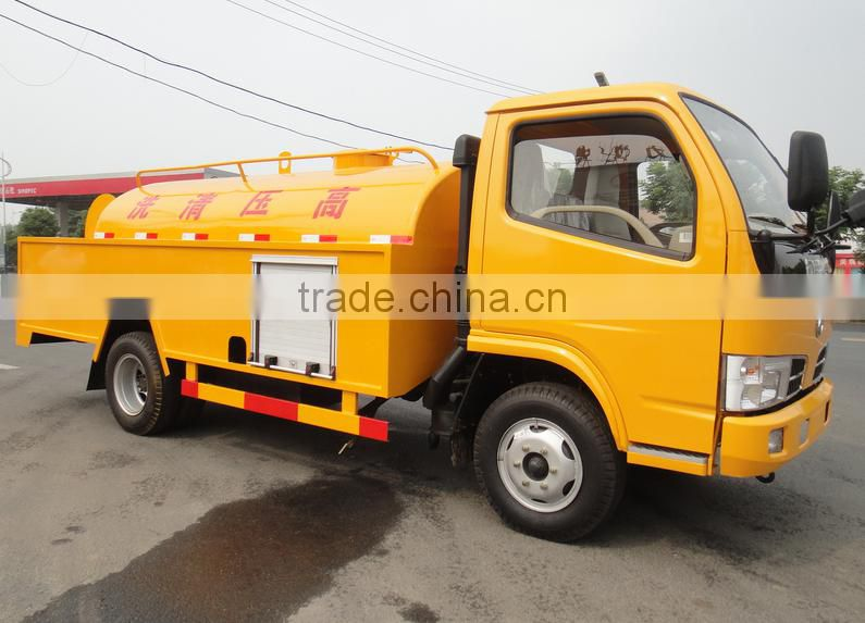 4*2 Dongfeng 5m3 Small High Pressure Water Cleaning Truck for sale