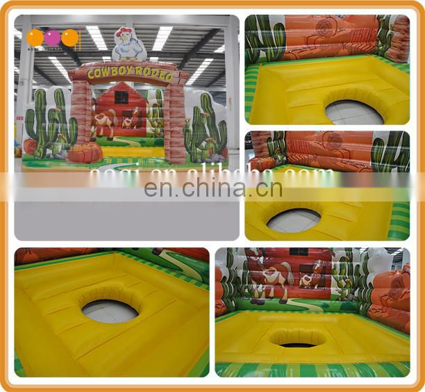 Westerm cowboy theme inflatable mechanical rodeo bull for sale
