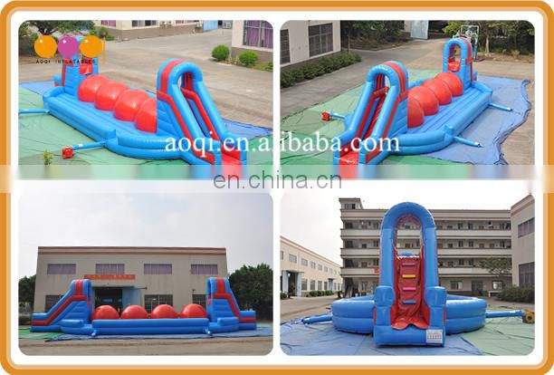 China factory suppiler big ball inflatable wipeout obstacle for team building