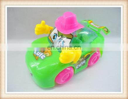 sweet candy toys, clear plastic candy box toy,kids pull back cartoon car toy