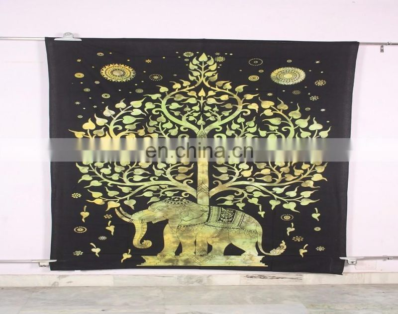 Tree Of Life Hippie Wall Art Wall Hanging Bohemian Vintage Handmade Tapestries