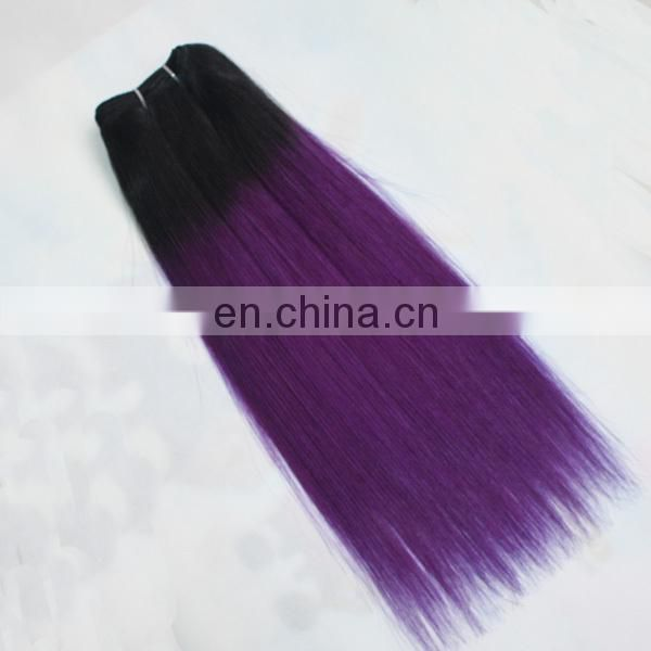 Factory hair wholesale top quality human hair last long pink and purple hair weave