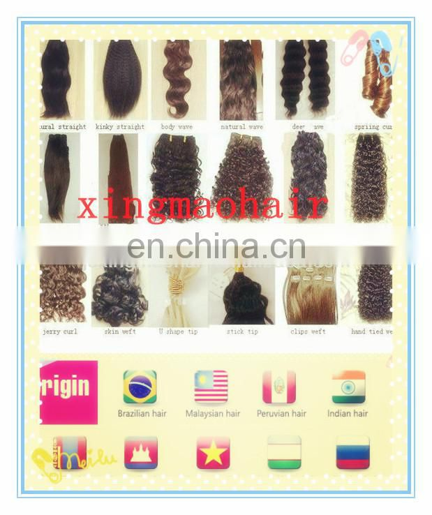 Human Micro Ring Loop Link Hair Extensions for short hair