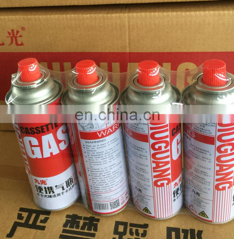 Single gas stove with gas cylinder aerosol butane gas220g for cooking