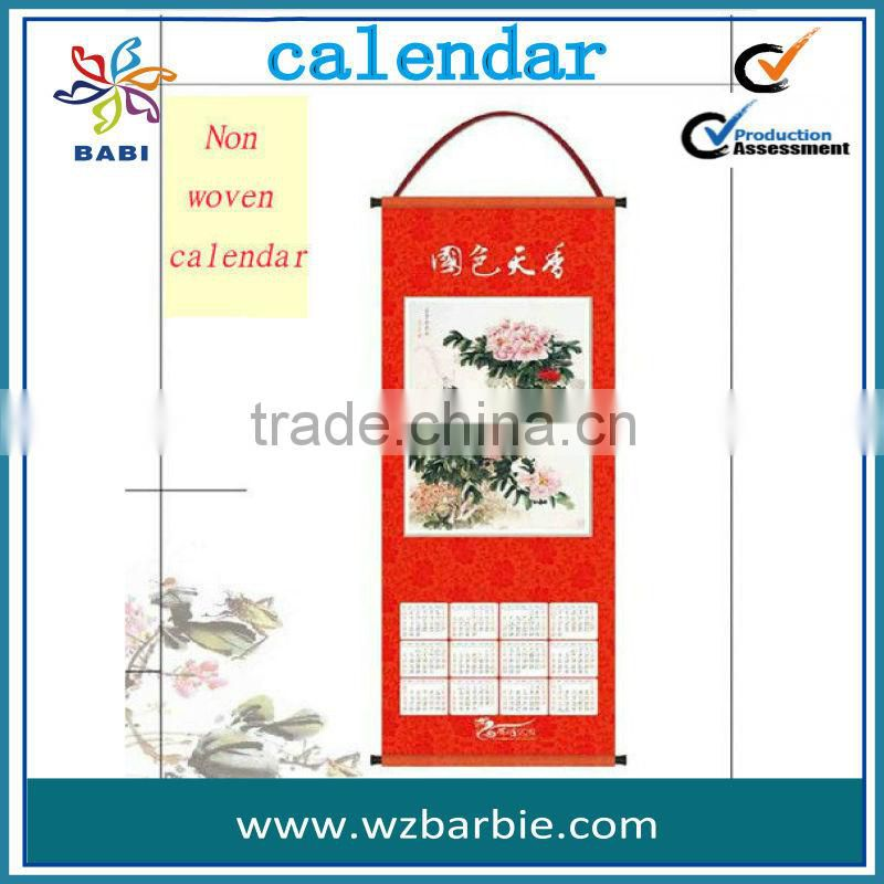 2014 new product---Wall hanging calendar