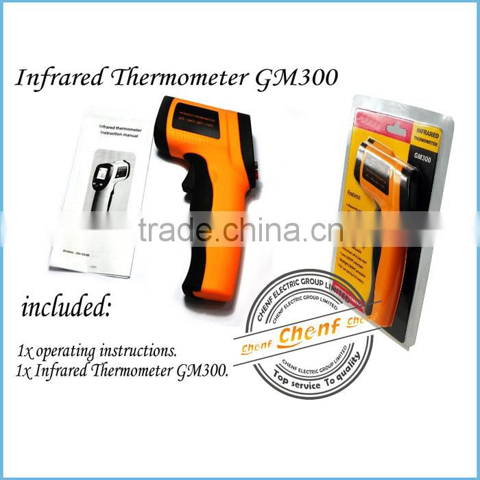 Newest Non-Contact 12:1 Gun LCD Digital IR Infrared Thermometer -50~380C (-58~716F) Emissivity 0.95 12:1