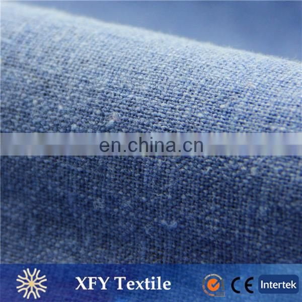 XFY-RL162 Navy Washing Fluorescence Pigment Dye Rayon Linen Fabric Wholesale Linen Fabric