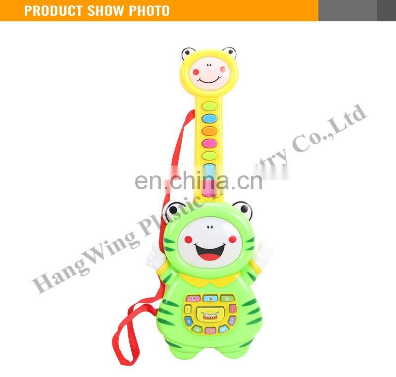 High Quality Plastic 19 Keys Frog Small Body Electric Guitar With Music And Light