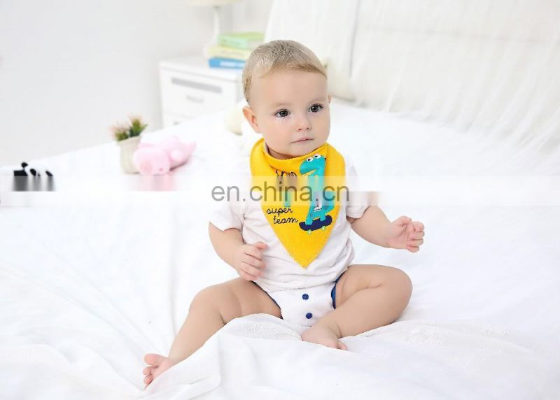 Elinfant 4pcs Baby bibs double layers cotton Baby Toddler Feeding Bandana Bibs