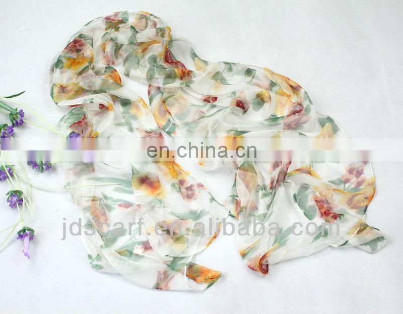 muslim JDY-D109# excellent scarves super thin 100% silk muslim