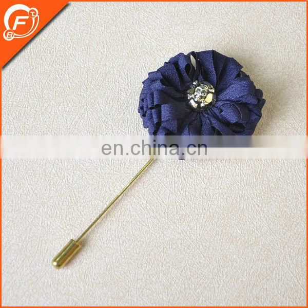 free sample gentleman bowknot grid pattern lapel pin with long needle