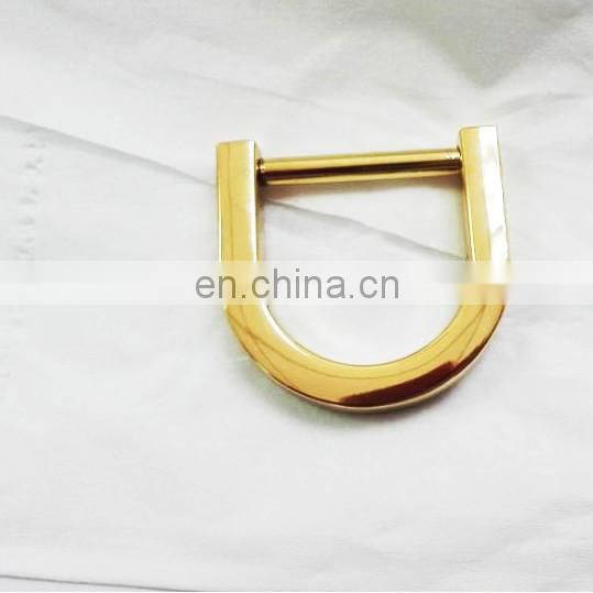 Handmade polishing high quality metal small d ring for bags