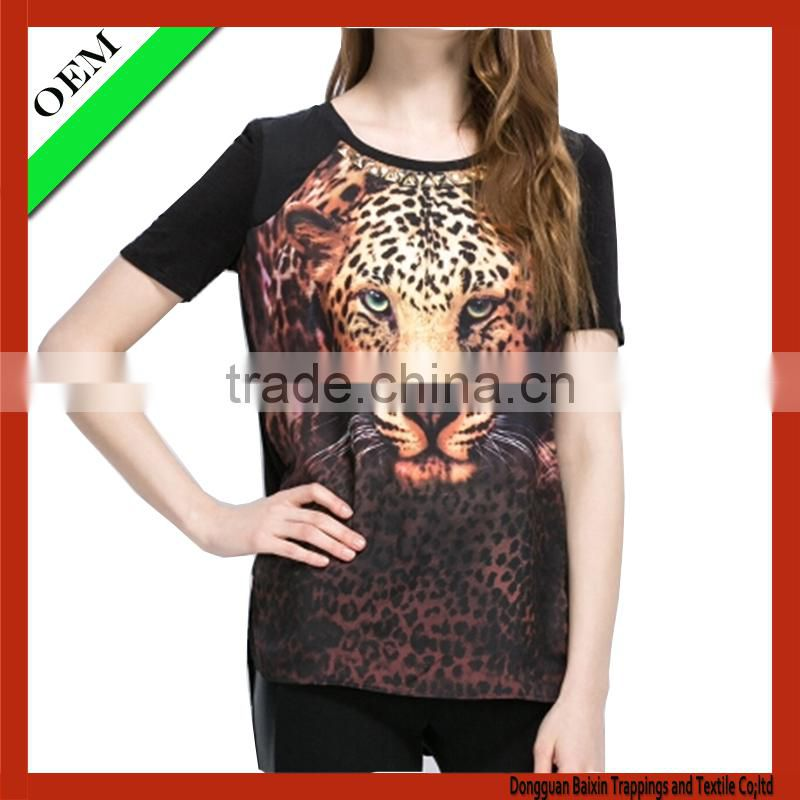 2015 cotton100% cotton t-shirt women print t-shirt OEM