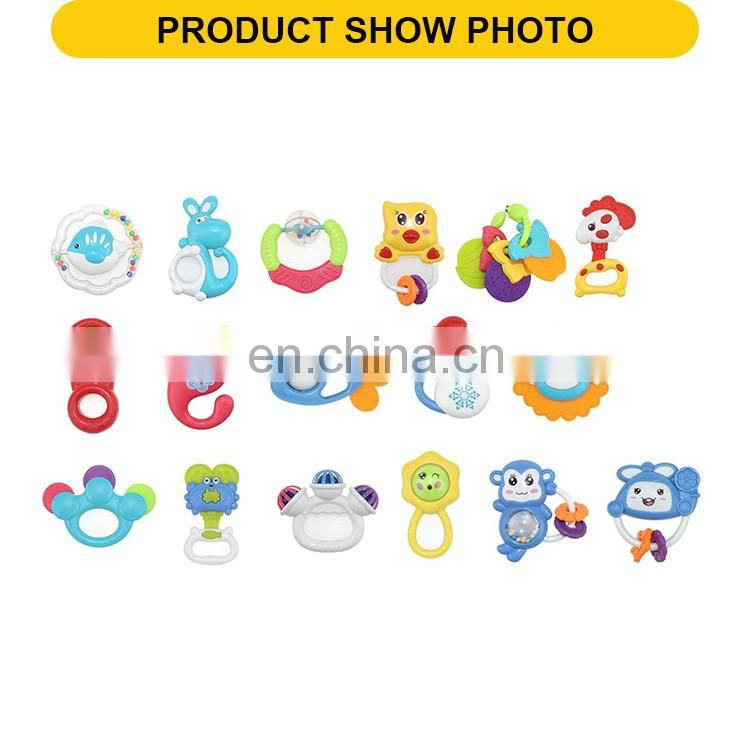 Hot selling musical toy tanbourine the plastic baby toys rattle(17pcs)