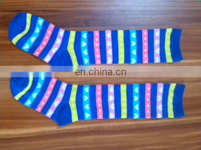young girls thigh jacquard socks
